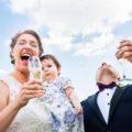 brindis de los novios en la boda en la finca el hormigal