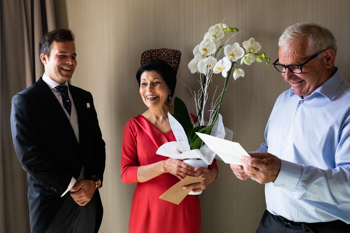 carta para los padres en boda