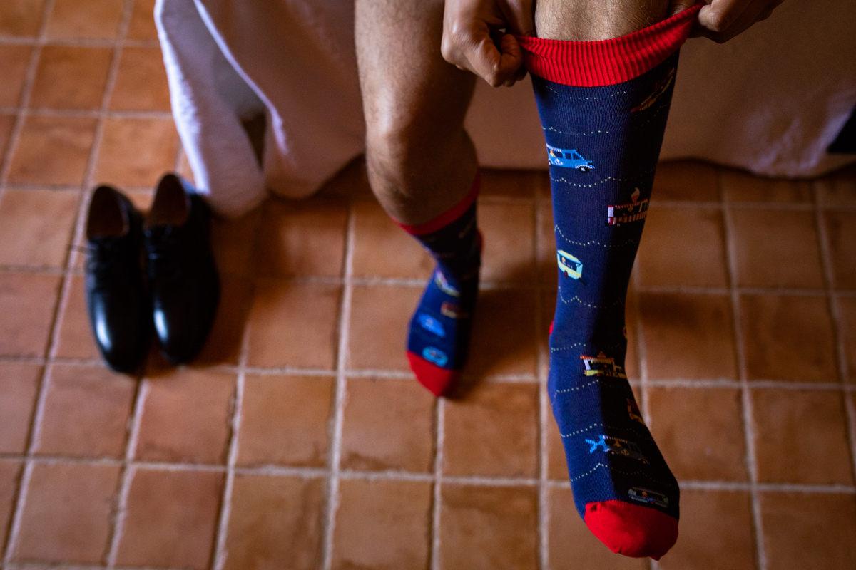 calcetines originales para novios en boda