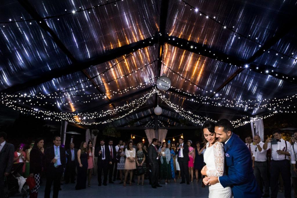 iluminacion de boda en la finca casas del sevillano