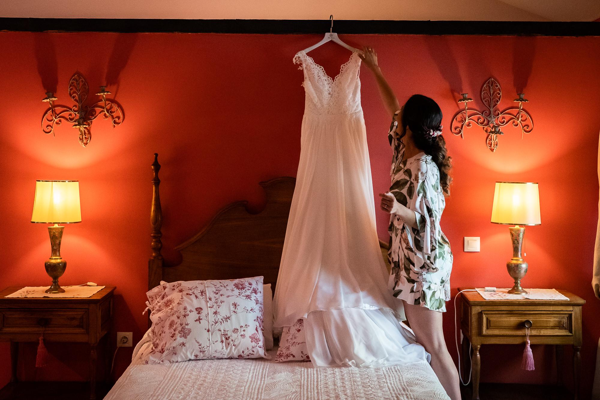 habitacion para la novia en la finca encinasola