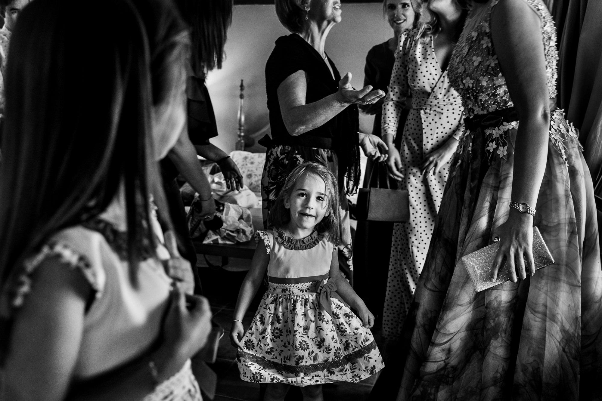 damas de honor en la boda en encinasola