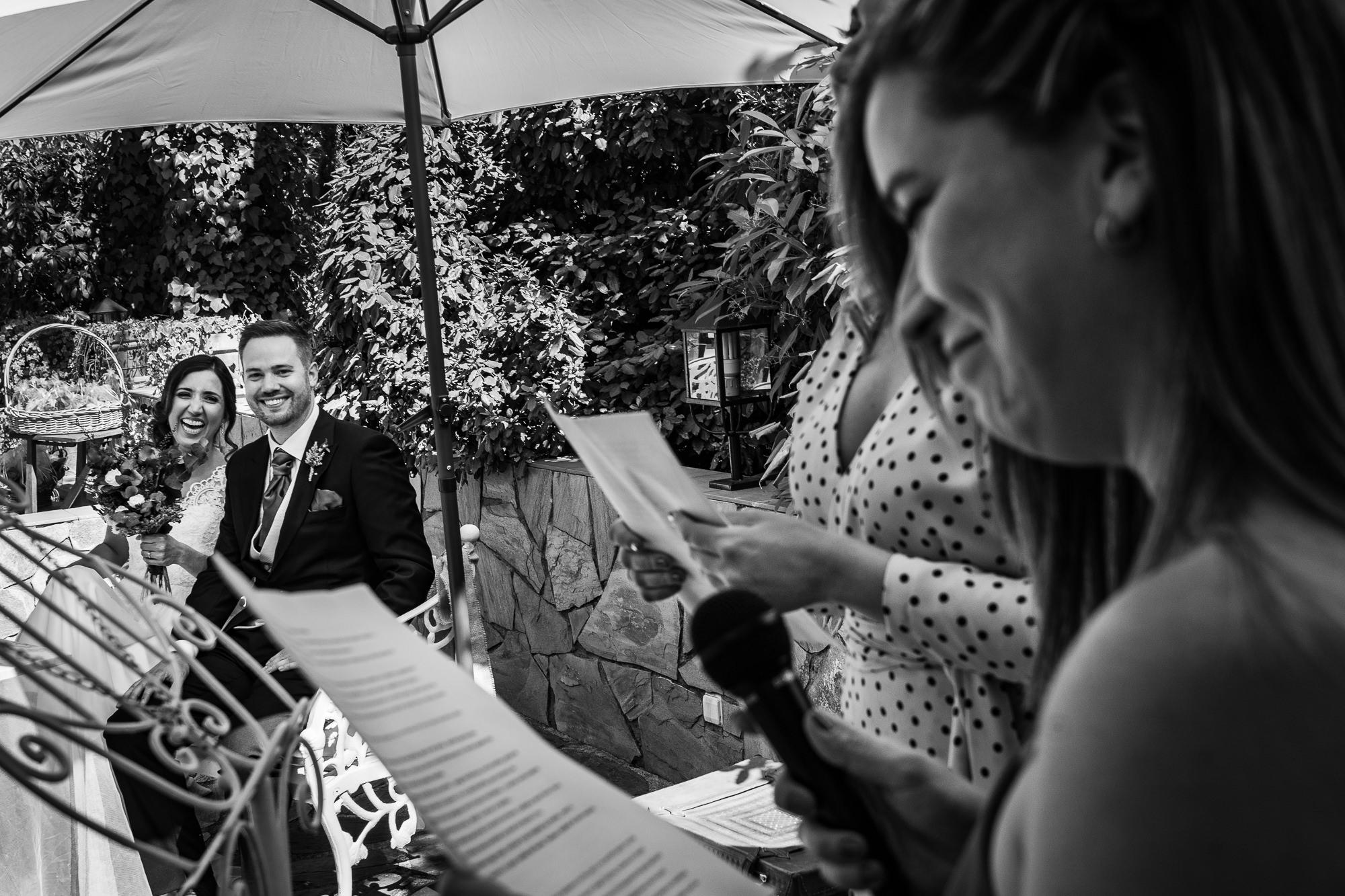 boda en los jardines de la finca encinasola