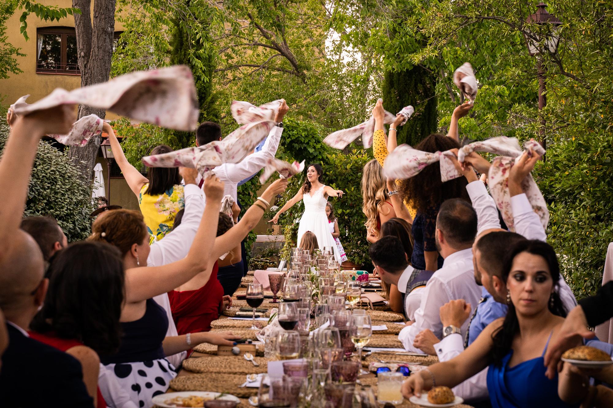cena de boda en la finca encinasola