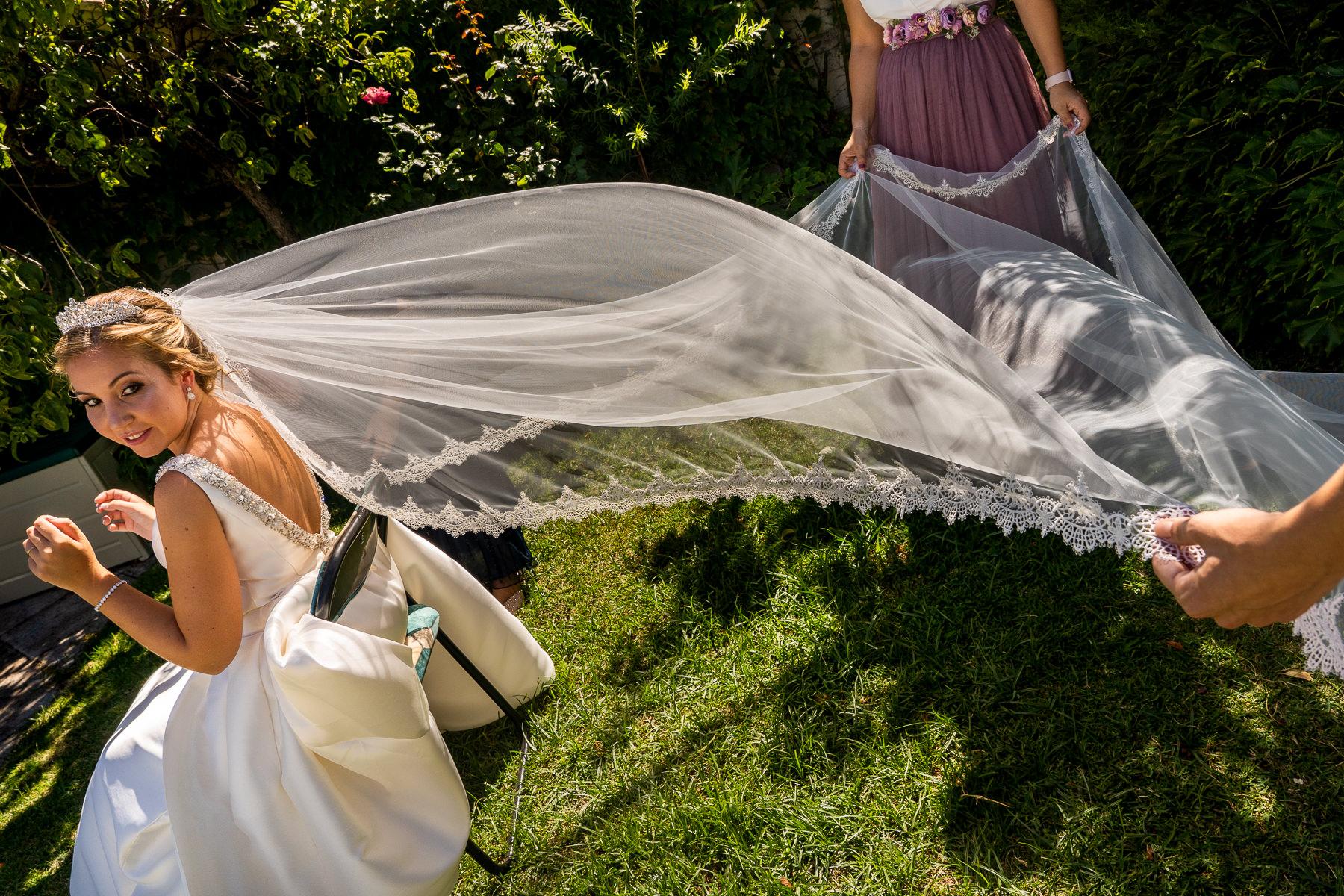 velo de la novia en el soto de monico