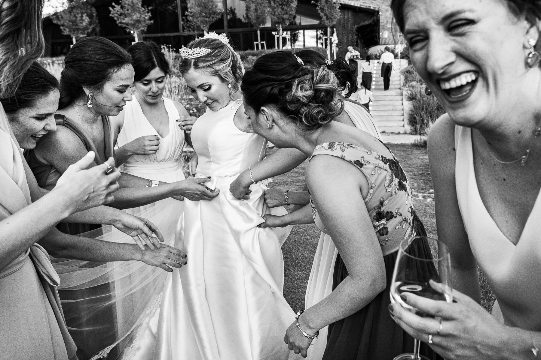 vestido de la novia en alcala de henares